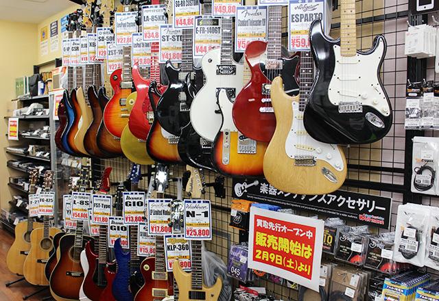 ワットマンスタイル雑色店店内ギター売場